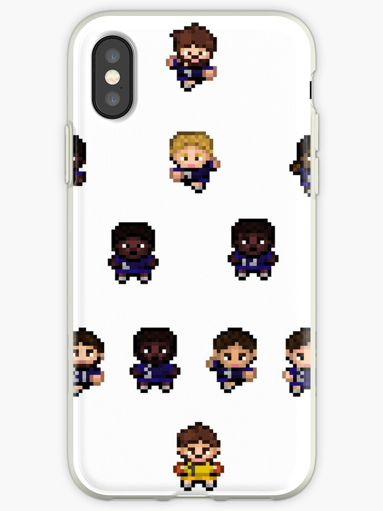 French Team World Cup Football Pixel Art Iphone Case By Marieb73