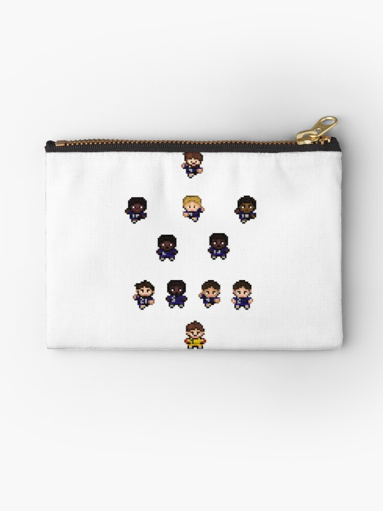 French Team World Cup Football Pixel Art Zipper Pouch By Marieb73