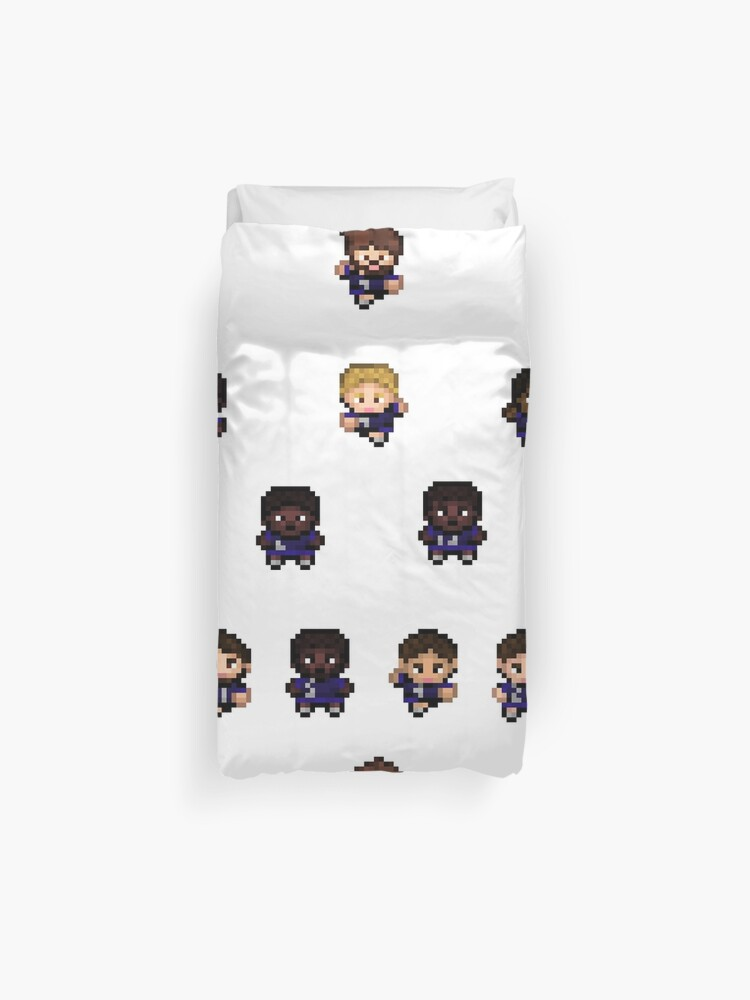 French Team World Cup Football Pixel Art Duvet Cover