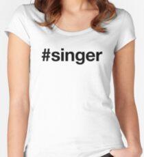 SINGER Tailliertes Rundhals-Shirt