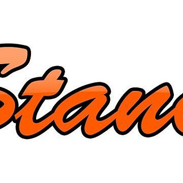VStanced Orange - Sticker by BBsOriginal