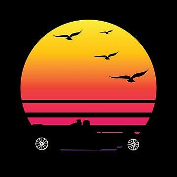 f1 retro sunset, #f1  by handcraftline