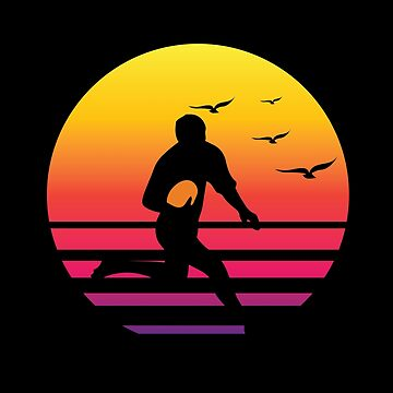 rugby 2 retro sunset, #rugby 2  by handcraftline