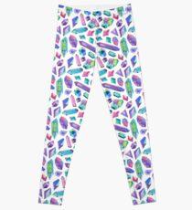 Rainbow watercolour gems Leggings