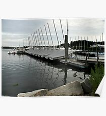 Salt Pond Marina At Dusk  Poster