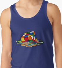 Melting Rubiks Cube: Sheldon from 'The Big Bang Theory' Cool Nerdy Gift Ideas! Tank Top