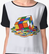 Melting Rubiks Cube: Sheldon from 'The Big Bang Theory' Cool Nerdy Gift Ideas! Chiffon Top
