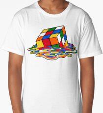 Melting Rubiks Cube: Sheldon from 'The Big Bang Theory' Cool Nerdy Gift Ideas! Long T-Shirt