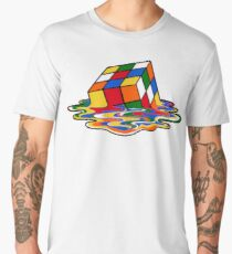Melting Rubiks Cube: Sheldon from 'The Big Bang Theory' Cool Nerdy Gift Ideas! Men's Premium T-Shirt