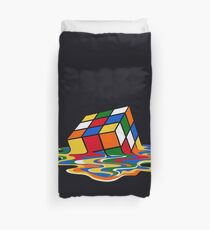 Melting Rubiks Cube: Sheldon from 'The Big Bang Theory' Cool Nerdy Gift Ideas! Duvet Cover