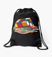 Melting Rubiks Cube: Sheldon from 'The Big Bang Theory' Cool Nerdy Gift Ideas! Drawstring Bag