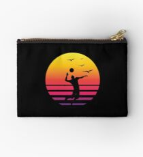 volleyball retro sunset, #volleyball  Studio Pouch