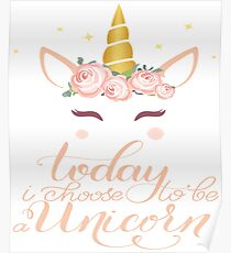 Mommy Of The Birthday Girl Tee Shirt - Cute Mommy Unicorn shirts Gift Idea Poster