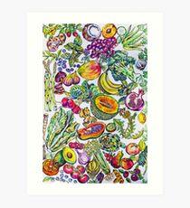 Lámina artística Alimentos que cambian la vida