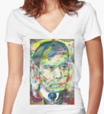 BORIS PASTERNAK - watercolor portrait.2 Women's Fitted V-Neck T-Shirt