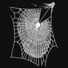 Fun Hand Drawn Spooky Halloween Spiders Web  by taiche