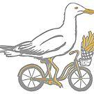 « Goéland à vélo » par Amélie  Legault