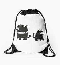 Two Dogs Drawstring Bag