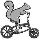 « Écureuil à vélo » par Amélie  Legault