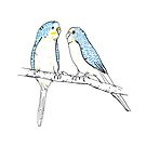 Budgies by Michelle Walker