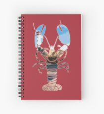 Maine Lobster Coastal Lighthouse Seascape Spiral Notebook