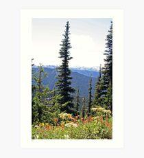 """Olympic Mountains"" Art Print"
