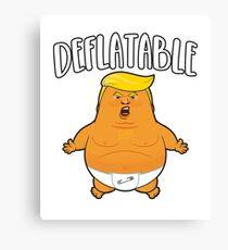 Deflatable Baby Trump Balloon Baby Trump Blimp Canvas Print