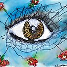 Eyes with Flowers by Sonia Q-L