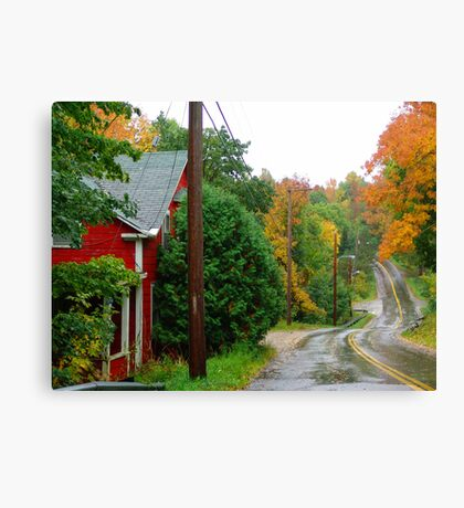 Rainy Day In Bear River Canvas Print