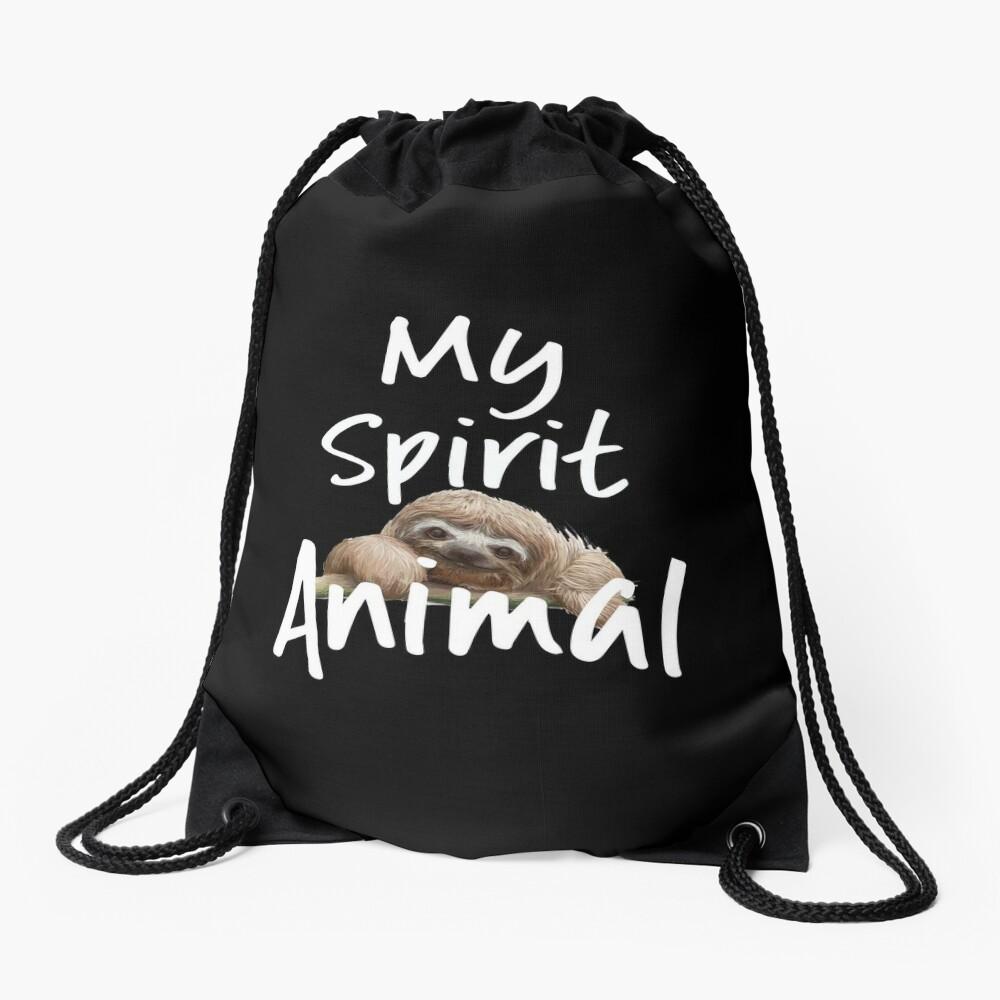 Sloth Funny Design - My Spirit Animal Drawstring Bag