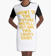 Back To The Future Lousy Shirt Graphic T-Shirt Dress