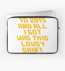 Back To The Future Lousy Shirt Laptop Sleeve