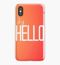 Why Hello Orange Happy Design iPhone Case