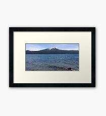 Lámina enmarcada Diamond Lake, Mt Bailey, Oregon
