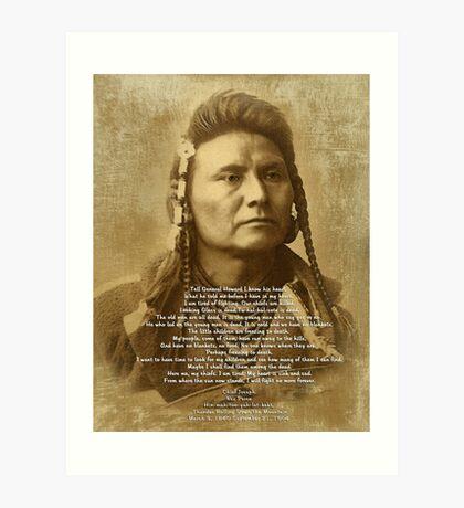 Chef Joseph der Nez Perce Kunstdruck
