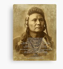 Chief Joseph of the Nez Perce Canvas Print