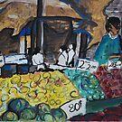 City Landscapes: At the Market by Lozzar Flowers & Art