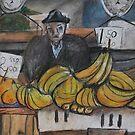 City Landscapes:  Banana seller by Lozzar Flowers & Art