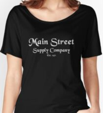 Main Street Supply Company Millennial Pink Vintage Women's Relaxed Fit T-Shirt