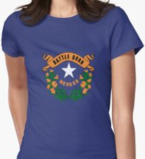 Nevada flag Women's Fitted T-Shirt