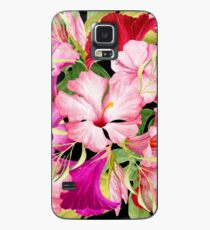Tropical Power Flowers Case/Skin for Samsung Galaxy