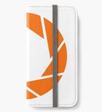 Aperture Science (Orange) Logo iPhone Wallet/Case/Skin