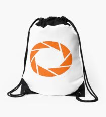 Aperture Science (Orange) Logo Drawstring Bag