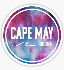 Cape May - Tie Dye  Sticker