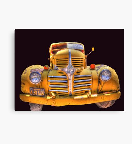 Old yellow dodge Canvas Print