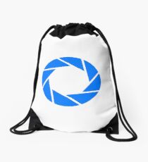 Aperture Science (Blue) Logo Drawstring Bag