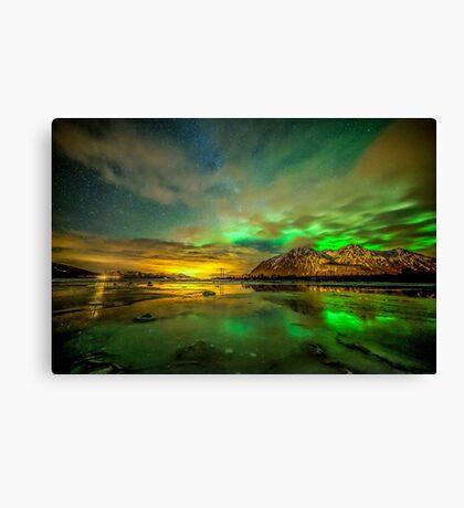 Aurora green Canvas Print