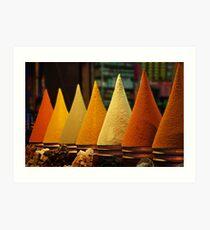Moroccan Spice Rack Art Print