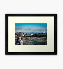 Pink Clouds over Morro Bay Framed Print
