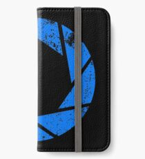 Aperture Science (Blue) Logo · Distressed iPhone Wallet/Case/Skin